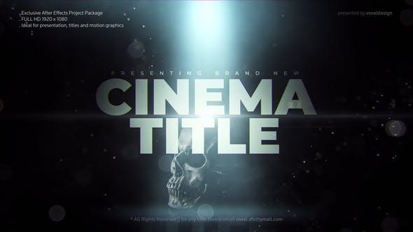 پروژه اماده افترافکت : تایتل سینمایی Cinema Trailer