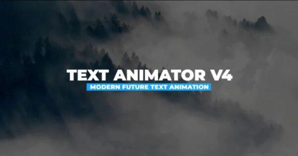 دانلود پروژه اماده پریمیر انیمیت کردن متن Futuristic Text Animator V4