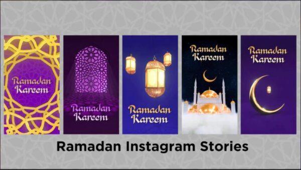 پروژه اماده افترافکت داستان اینستاگرام ماه رمضان Ramadan Instagram Stories