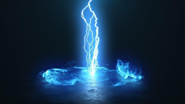 پروژ اماده افتر افکت نمایش لوگو انفجار رعد و برق Lightning Explosion Logo