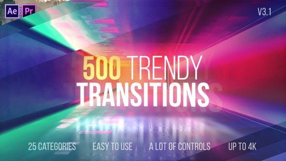 دانلود ترنزیشن افتر افکت : مد روز ورژن 3.1 trandy transitions