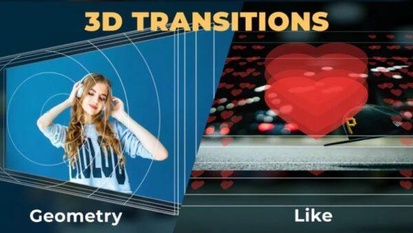 مجموعه ترنزیشن سه بعدی افترافکت 3D Geometry Transitions