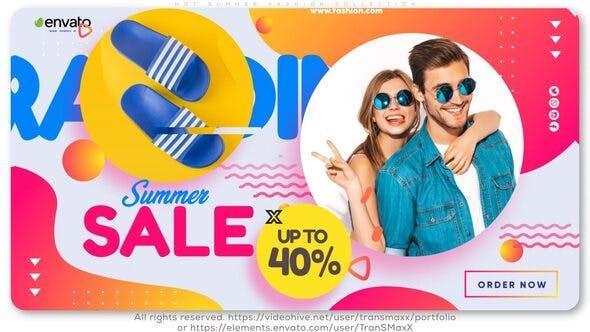 دانلود پروژه تبلیغات افترافکت Hot Summer Fashion Collection