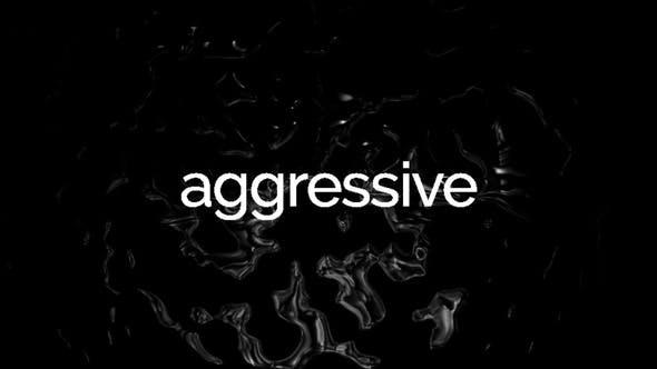 پروژه اماده پریمیر تبلیغ متنی پرهیجان Agressive Glitch Stomp