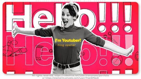 پروژه اماده استارت افترافکت Melinda's Secrets Youtube Blog Opener