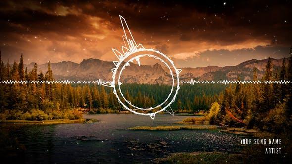 افترافکت نمایش صدا با اکولایزر Music Visualizer