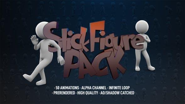موشن گرافیک ادمک ها stick Figure Pack