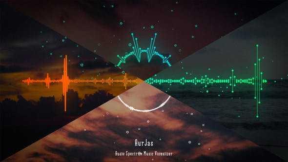 پروژه اماده افترافکت نمایش موسیقی و صدا با اکولایزر Audio Spectrum Music Visualizer