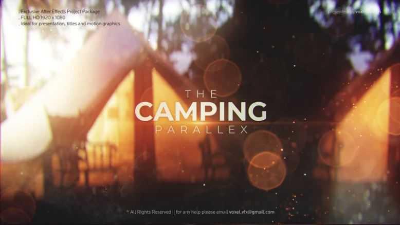 پروژه اماده افترافکت نمایش اسلایدشو Camping Slideshow