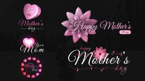 دانلود پروژه اماده تایتل روز مادر برای افترافکت Mothers Day Sweet Titles