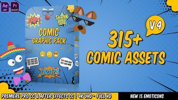 مجموعه حباب گفتار، ایموجی، تایتل کمیک و ... Pack Flash FX Graphic