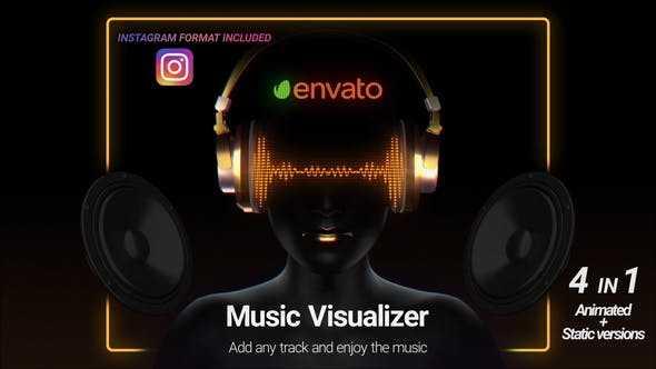 پروژه اماده نمایش موسیقی و صدا با اکولایزر برای افترافکت Music Visualize 25998010