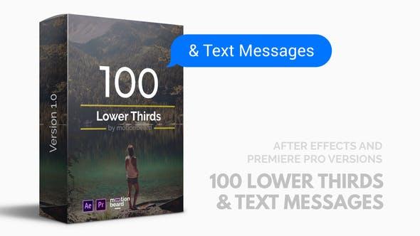 100 زیرنویس و پیام برای پریمیر و افترافکت