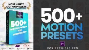 500 انیمیشن آماده متحرک برای پریمیر Most Handy Motion Preset