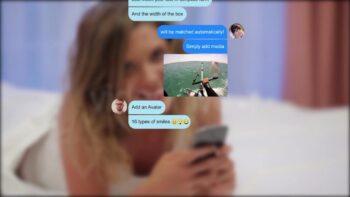 پروژه اماده ساختن اس ام اس و پیامک نمایشی Popular Messenger Builder
