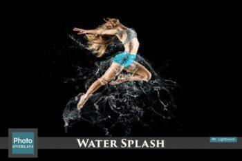 تصویر پاشیده شدن آب با قابلیت همپوشانی