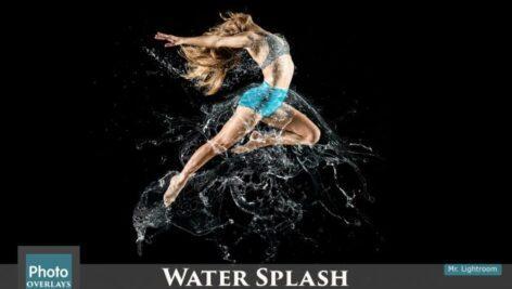 تصویر پاشیده شدن آب با قابلیت همپوشانی 4
