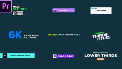 دانلود مجموعه زیرنویس پریمیر Lower Thirds – Razer