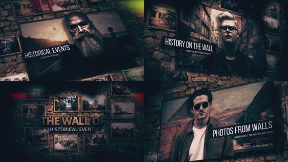 پروژه اماده نمایش تاریخ و داستان روی دیوار History On The Wall
