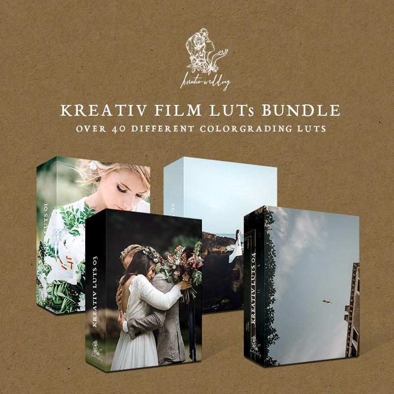 مجموعه 4 پکیج LUT تنظیم رنگ فیلم عروسی