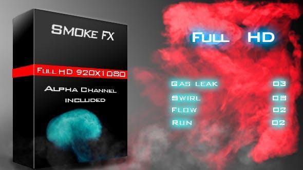 دانلود مجموعه فوتیج دود با افکت آشکار شدن Smoke Fx