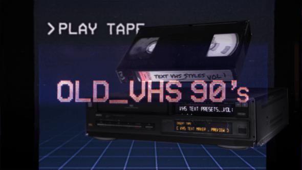 افترافکت تایتل نویزدار و قدیمی VHS Glitch Titles