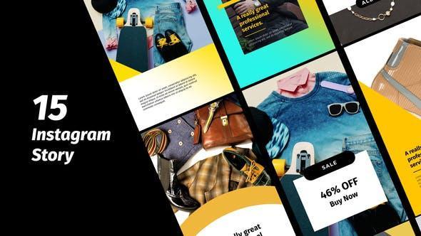 پروژه اماده استوری تبلیغاتی اینستاگرام instagram story