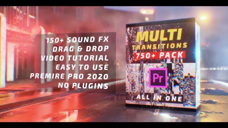 مجموعه 750 ترنزیشن پریمیر + 150 ترنزیشن صوتی