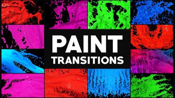 دانلود ترانزیشن پریمیر رنگ نقاشی Paint Transitions