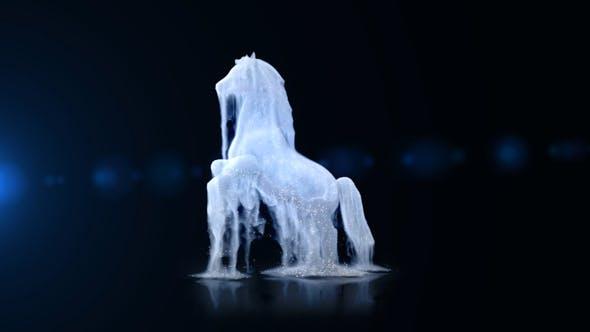 دانلود پروژه اماده نمایش لوگو اسب سفید برای افترافکت
