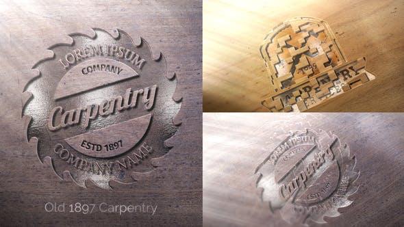 پروژه اماده حک کردن لوگو روی چوب برای افترافکت Wood Logo