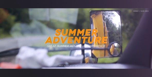 پروژه اماده افترافکت : اسلایدشو ماجرای تابستان Summer Adventure