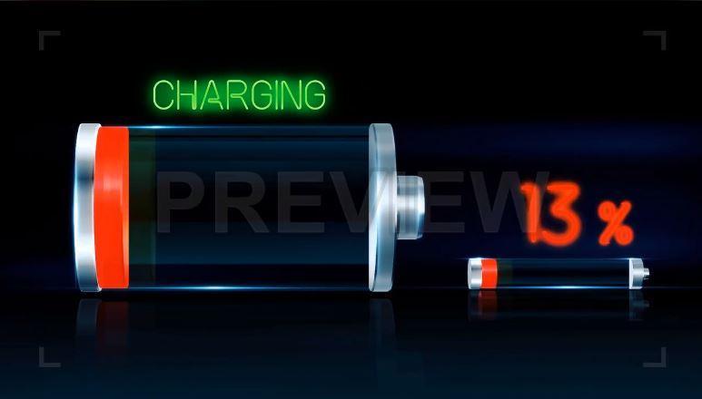 مجموعه فوتیج شارژ شدن و خالی شدن باتری Battery charging and discharging