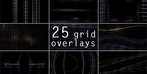 مجموعه 25 فوتیج خطوط ماتریس برای نرم افزار های تدوین