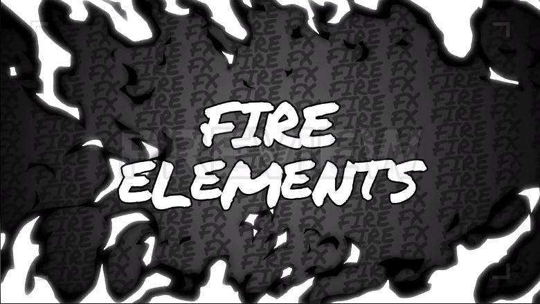 مجموعه فوتیج عناصر کارتونی اتش Hand Drawn Fire