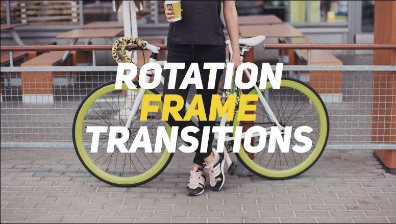 پریست ترنزیشن چرخش برای پریمیر Rotation Frame Transitions