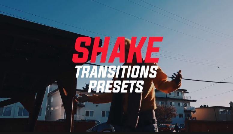 دانلود پریست ترنزیشن لرزش برای پریمیر Shake Transitions Presets