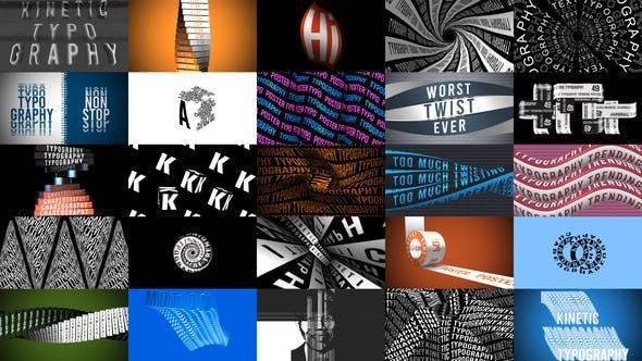 پروژه اماده افترافکت : تاپیوگرافی پوسترهای متحرک