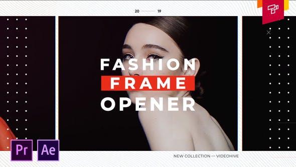 پروژه اماده استارت برای پریمیر و افترافکت fashion frame opener