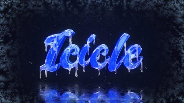 پروژه اماده نمایش لوگو منجمد و یخ زده برای افترافکت frozen logo