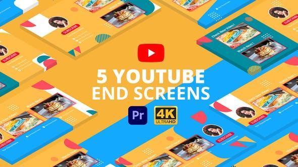 پروژه اماده پریمیر صفحه پایان ویدیو یوتیوب youtube end screens vol 3