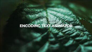 دانلود پریست افترافکت : انیمیشن متن بصورت رمزگذاری