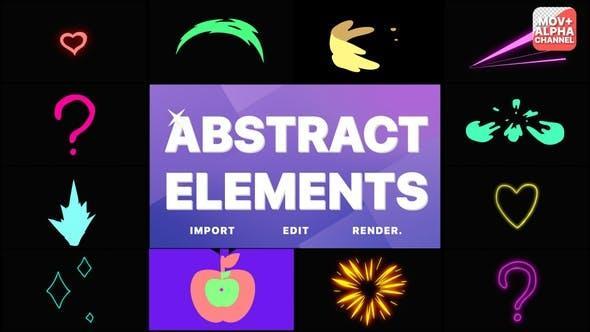 مجموعه فوتیج موشن گرافیک المانهای انتزاعی Abstract Pack