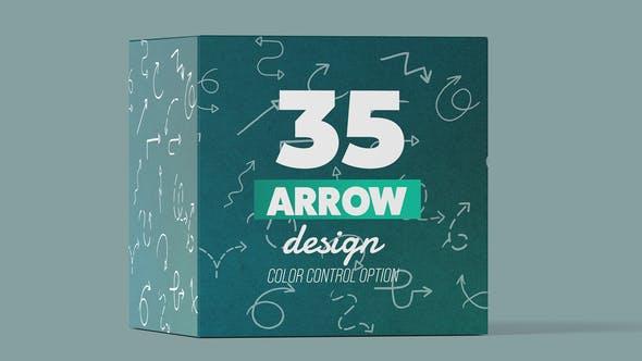 مجموعه فلش و پیکان متحرک برای افترافکت Arrow Pack