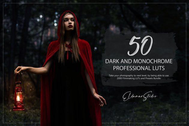 50 lut تنظیم رنگ : تاریکی و تک رنگ Dark and Monochrome