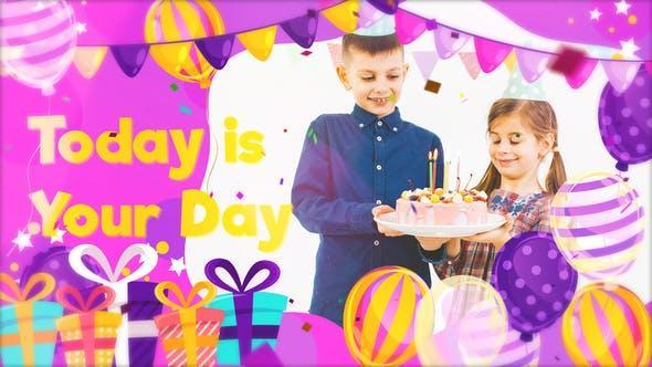 اسلایدشو جشن تولد پریمیر و افترافکت Happy Birthday Slideshow