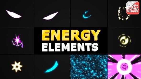 مجموعه فوتیج موشن گرافیک المانهای انرژی Energy Elements