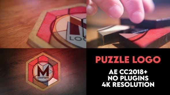 پروژه اماده افترافکت نمایش لوگو با پازل چوبی Puzzle Logo Intro
