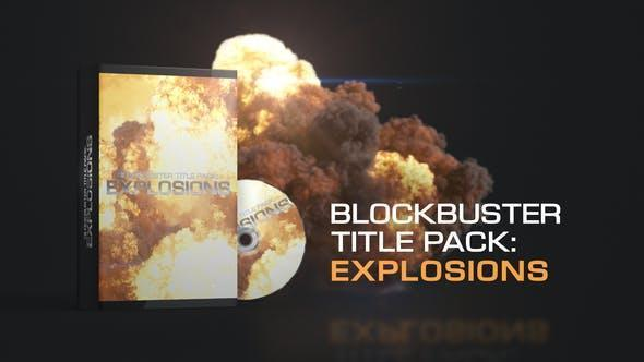 نمایش تایتل با انفجار افترافکت